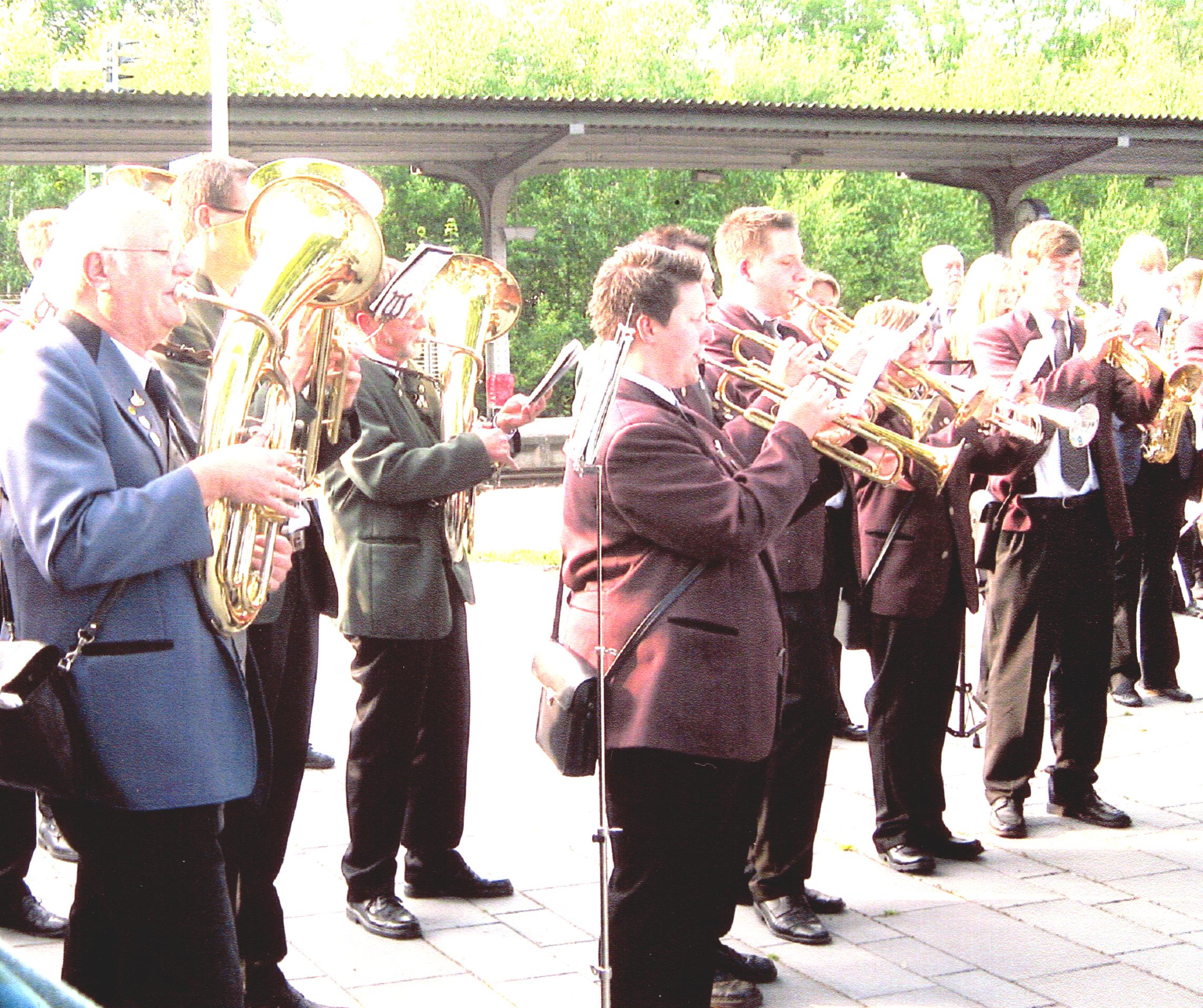 Three HSK bands play in West Lothian Platz.