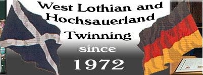 Twinning between West Lothian and Hochsauerland has been going on since 1972.